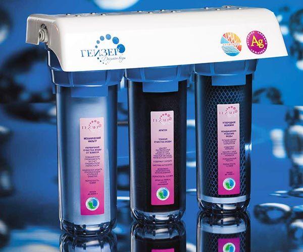 Замена фильтров гейзер био